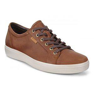 Ecco men's soft 7 cognac leather sneakers size 8